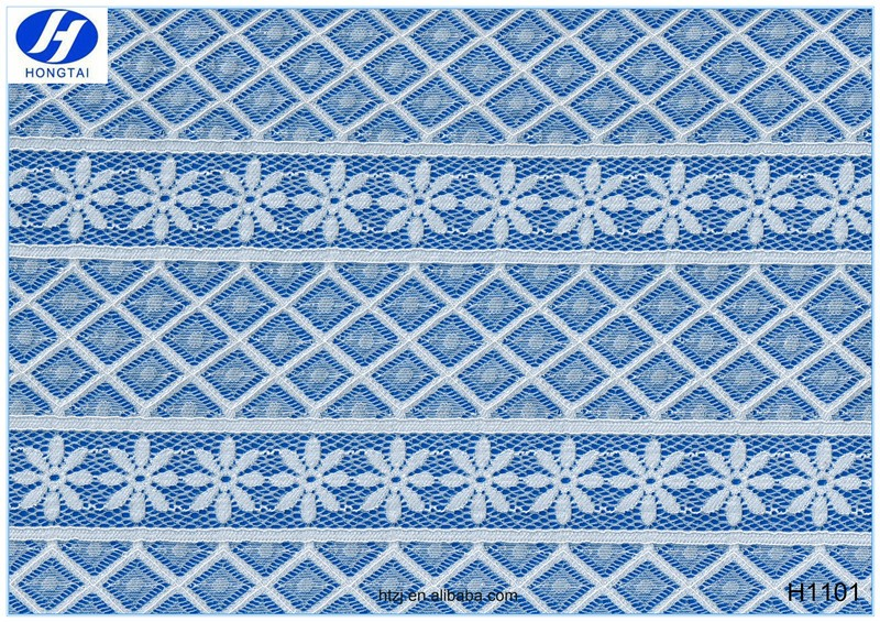 Hongtai 2017 african nylon spandex lace fabric bridal lace fabric wholesale in Changle China