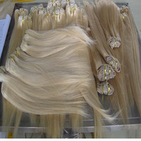 New arrival top quality shedding and tangle free long lifetime last full cuticle full head clip in hair extensions