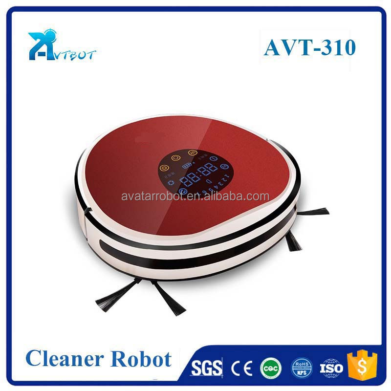 Dry wet clean vacuum floor cleaning robot
