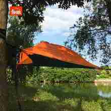 Suspended Camping Tree House Tent for 2 Person Hammock with Mosquito Net and Rain Fly Perfect for Camping and Hiking