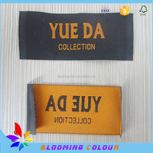 Apparel end fold woven label/famous private brand end fold label/neck label