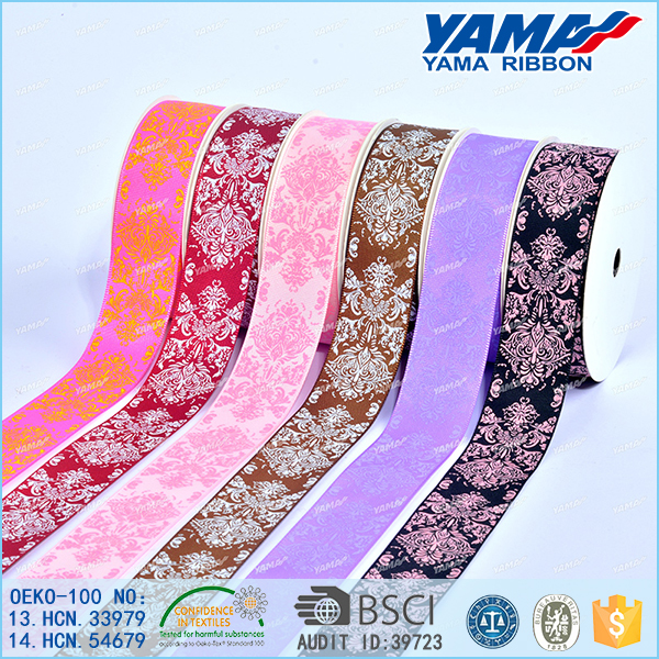 Good price wholesale flower pattern printed fabric ribbon