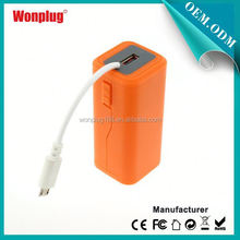 2014 newest designed top sales AA batteries power bank 9600