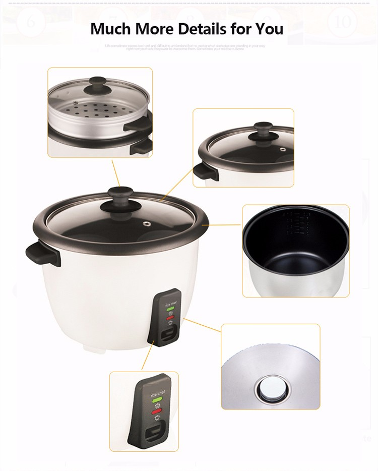 Chinese Customized Capacity 0.6l 1.8l 2.8l Ricecooker Electric Best Rice Cookers With Low Price ...