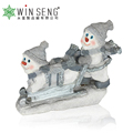 Polyresin Snowmans Figurine home decoration