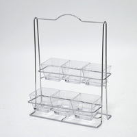 6pcs square potato chip & candy & chocolate display rack