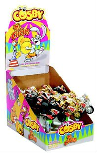COSBY CANDY TOYS WITH MOTORCYCLE