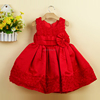 2 3 4 cute baby party dress red cheap baby 1 year old party dress