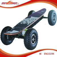 900W-1200W High-strength Aluminium and ABS Material and Skate Cycle Type electric skateboard