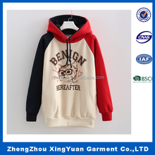 Red Gray Color White Spot Wholesale Blended Wool Round Neck Knitted Sweater hoody sweat shirt