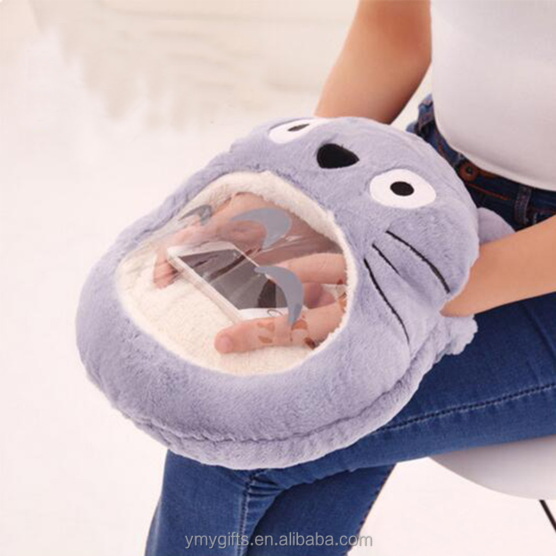 Winter play mobile phone artifact and warm hands plush hand warmer pillow