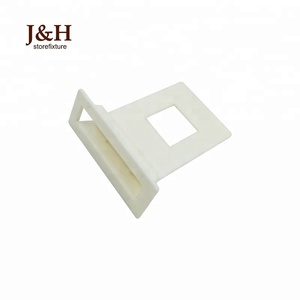 POP Displays Accessories Exhibition Cardboard Shelves Clear ABS Connector White Plastic Corrugated Shelf Support Locking Clip
