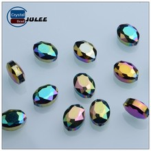 Fancy Rhinestone beads faceted pressed wholesale glass beads in bulk