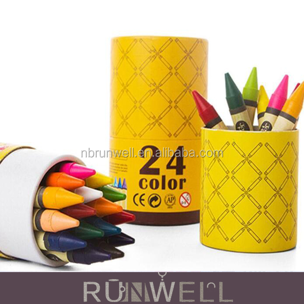Factory supplier customized cheap fashion crayon package box cylinder paper tube
