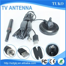 high gain corrosion resistance clear tv hd indoor tv stick antenna with aplifier and power light