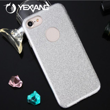 Yexiang Glitter Paper + Hard PC Transparent TPU 3 In 1 Cell Phone Case For iPhone 6 / 6S