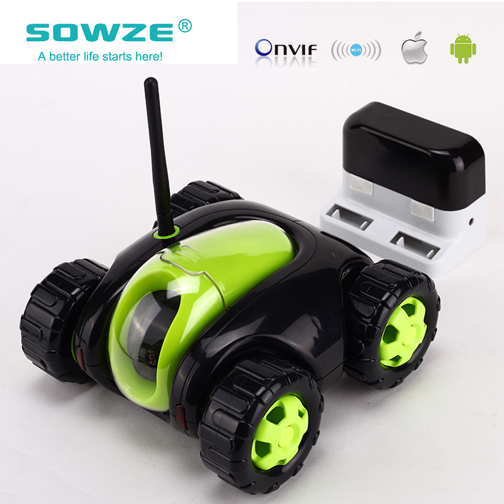 SOWZE New Style WiFi Car Remote Robot Camera Car Support Smart Phone Remote Control Wire Charging Automatic Recharge IP Camera