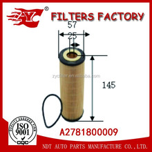 Satisfying quality aotu oil filters for Benzi A2781800009