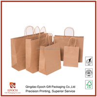 factory price brown kraft paper bag