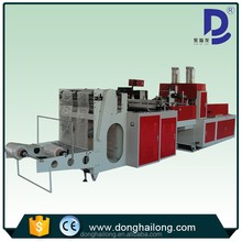 Hot seal hot cut T-shirt bag making machine with punch