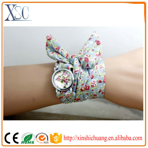 Hot sale ribbon girl latest hand watch thin strap watches for women
