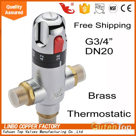 "Gutentop-LB 1"" brass Thermostatic mixing Valve for hot and cold <strong>water</strong> low price"