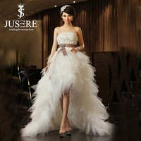 Sexy Hot Country Short Wedding Dress 2015 With Ruffles Skirt