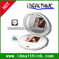 Shell Mirror Digital Photo Frame Make-up Pocket Cosmetic Mirror Electronic Digital Photo Frame