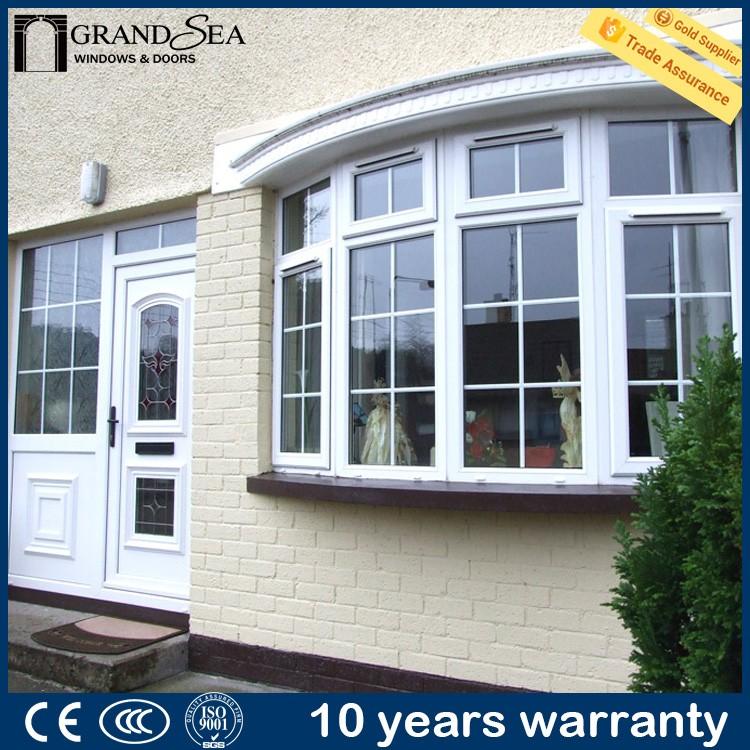 Simple Grill Design Balcony Designs Plastic Pvc Bay Glass Window - Buy ...