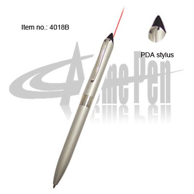 Multifunction pen with PDA stylus touch laser pen