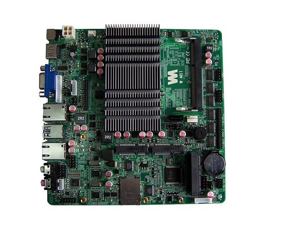 MBT J1900 Quad core processor Fanless Motherboard With Dual lan ports