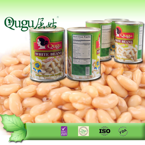china canned food canned white kidney beans 400g, baked beans.