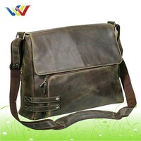 Vintage Leather PU Messenger Bag For Men