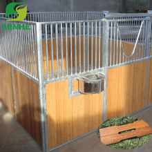 Customized front panel wooden horse stall bamboo material horse stable