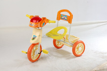 Simple colour diversity and the children with a handle the tricycle,children smart trike