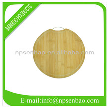 Round Bamboo Vegetable Cutting Board with Handle