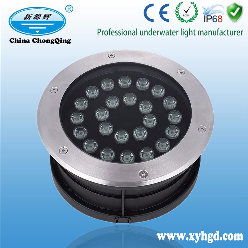 18w 12V colorful led underground light/led waterproof under deck light