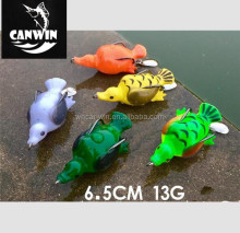 2017 artificial bait type hollow body 65mm 13g soft duck bird fishing lure spoon