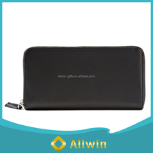 Personalize black pu leather wallet for women