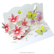 3d pop up hologram invitation card for business laser cutting machine