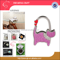 ladies Carry-home sexy two sweetheart cute twinkling cat handbag holder bag hanger purse hook for one trip grip purse hook
