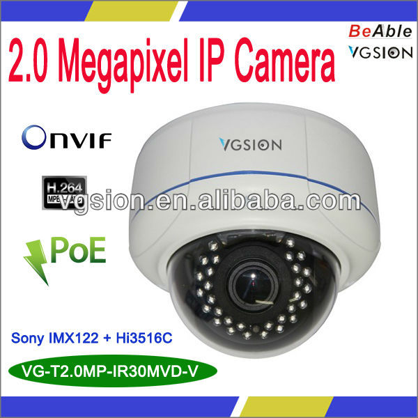 Face Recognization Intelligent Video Analysis Full HD 1080P Metal Dome IP Camera, Motion Detect Camera