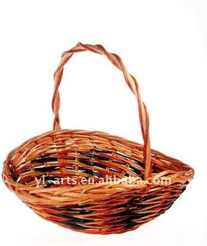 oval willow fruit basket