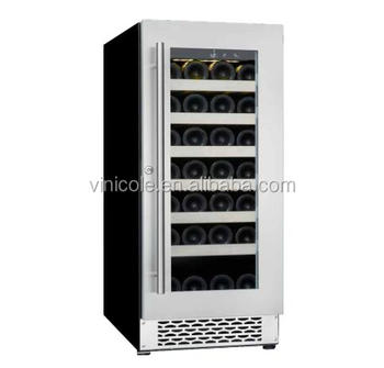 34 bottle single zone fan cooling mini compressor wine chiller