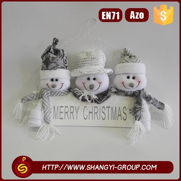 Wholesale Christmas Decor 3 Snowman Door Decoration Gift