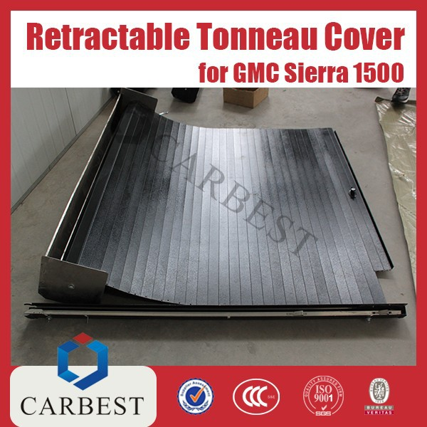 High Quality Aluminum Black Retractable Tonneau Cover for Pick Up GMC Sierra 1500