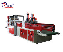 CE manufacture two lines t-shirt bag making machine