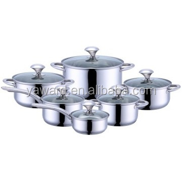 New Innovative Kitchen Products 12pcs Cookware Set With Induction Bottom