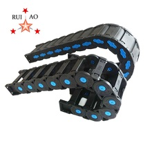 RUIAO flexible plastic drag carrier Power track flexible cable chain