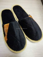 best hotel high quality black slipper without logo
